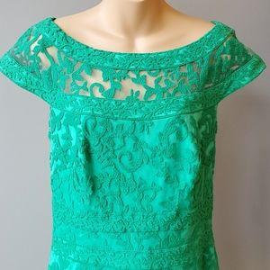 Tadashi Shoji Dresses - Tadashi Shoji Embroidered Lace Sheath Dress